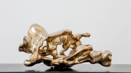 Lindy Lee Flame from the Dragons Pearl Fluid as Ice 2013 bronze 30 x 60 x 40 cm edition of 3