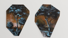 Chinoiserie Landscape ( Two Sections from Clark's Myriorama, folded)